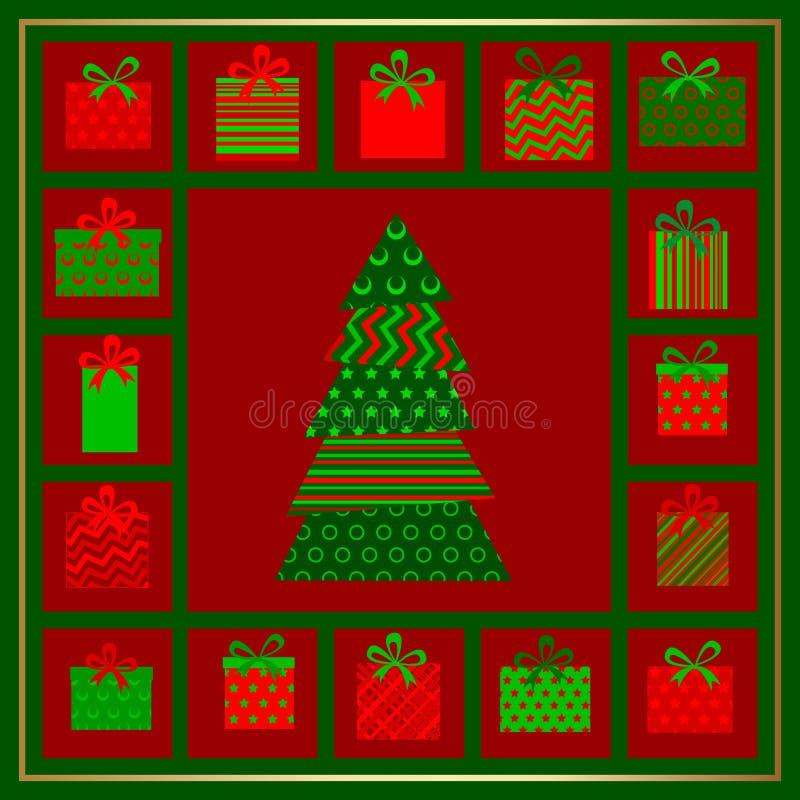 Carte de Noël abstraite illustration de vecteur