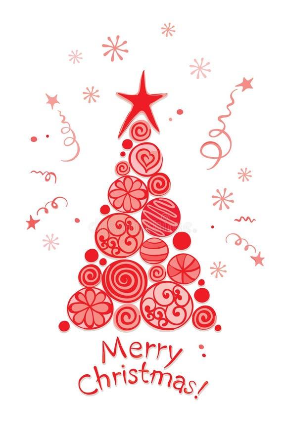 Carte de Noël -- arbre abstrait illustration de vecteur