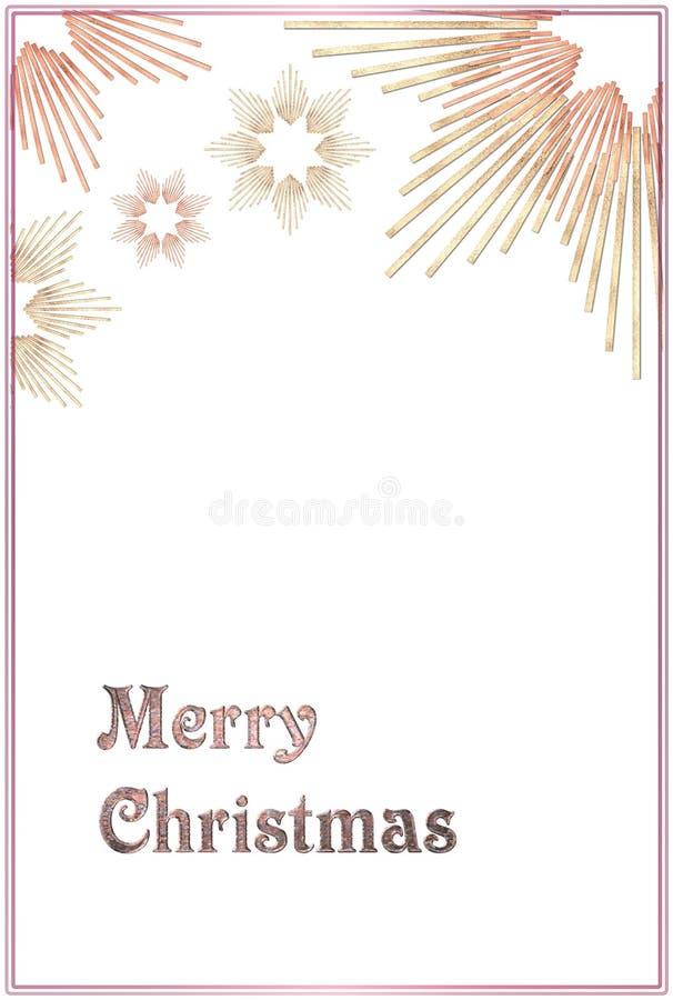 Carte de Noël avec des étoiles illustration stock