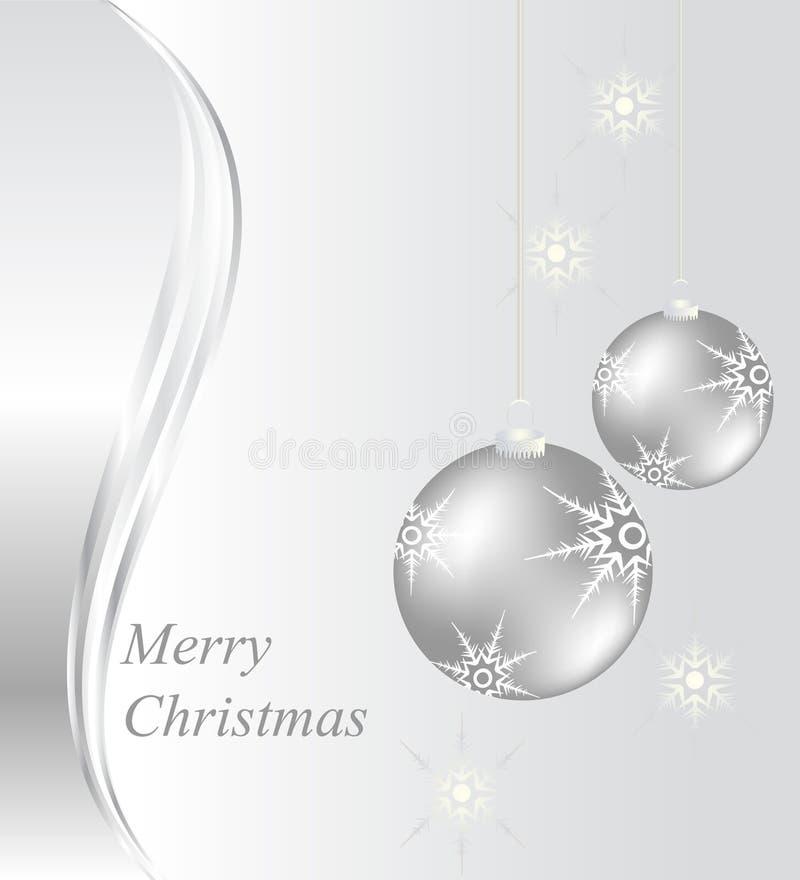 Carte de Noël avec des babioles illustration stock