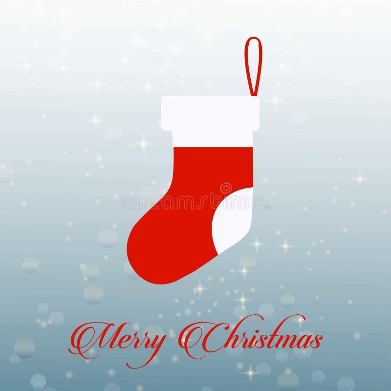 Carte de Noël avec des chaussettes illustration de vecteur