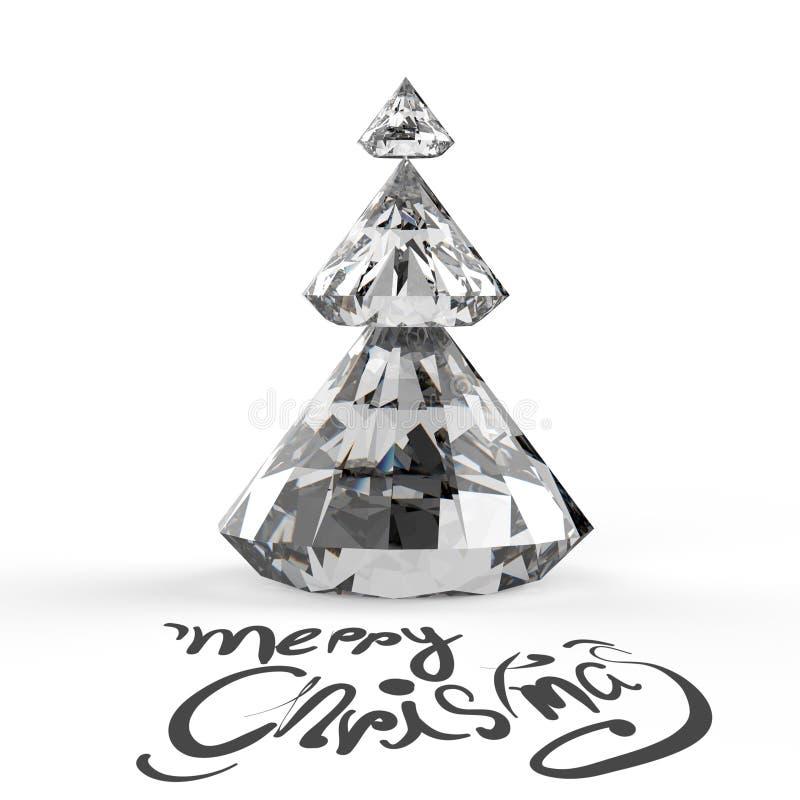 Carte de Noël avec l'arbre de Noël de diamants illustration libre de droits