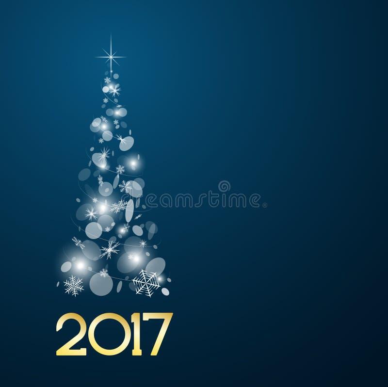 Download Carte De Noël Avec L'arbre De Sapin En 2017 Illustration de Vecteur - Illustration du lumineux, numéro: 77156765