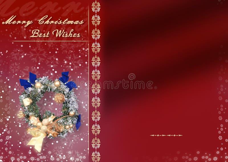 Carte de Noël avec l'espace pour des souhaits illustration de vecteur