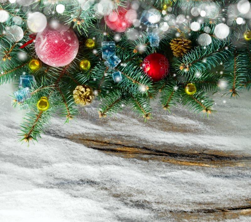 Carte de Noël avec l'espace pour votre texte photo libre de droits