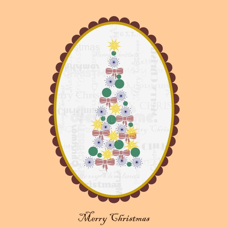 Carte de Noël avec la camée illustration de vecteur