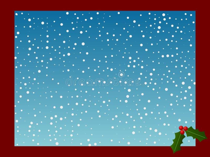 Carte de Noël avec la neige illustration de vecteur