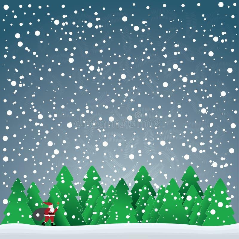 Carte de Noël avec le père noël illustration stock