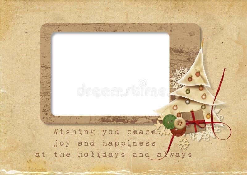 Carte de Noël avec les souhaits illustration stock