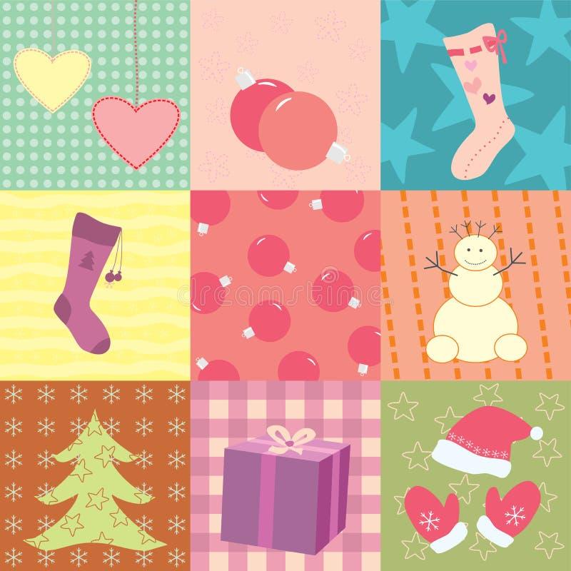 Carte de Noël avec neuf corrections illustration libre de droits