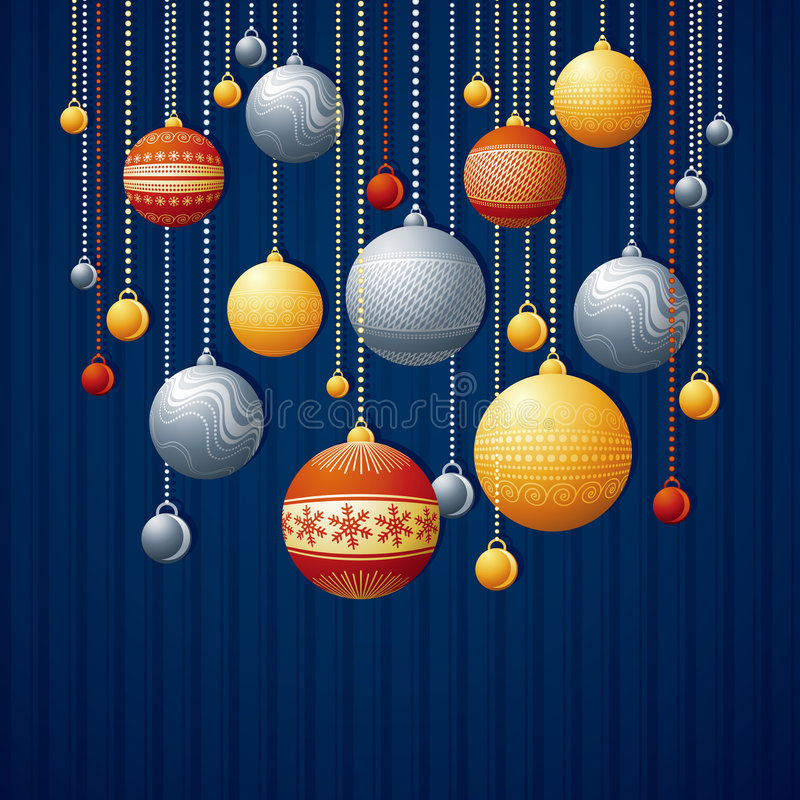 Carte de Noël bleue illustration stock