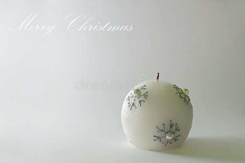 Carte de Noël - bougie de Noël photo stock
