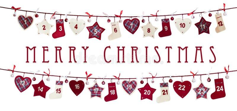 Carte de Noël - calendrier d'arrivée illustration libre de droits