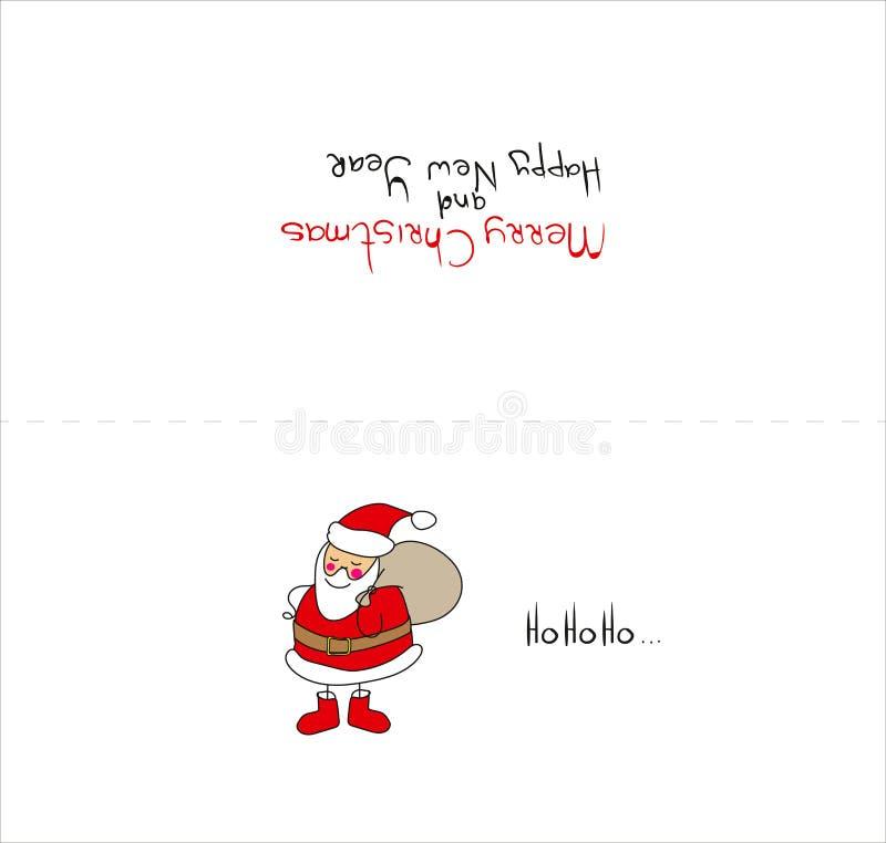 Carte de Noël de calibre de carte de Noël de vecteur illustration stock