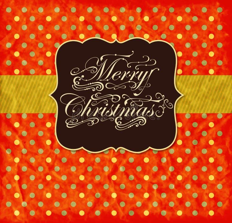 Carte de Noël colorée illustration de vecteur