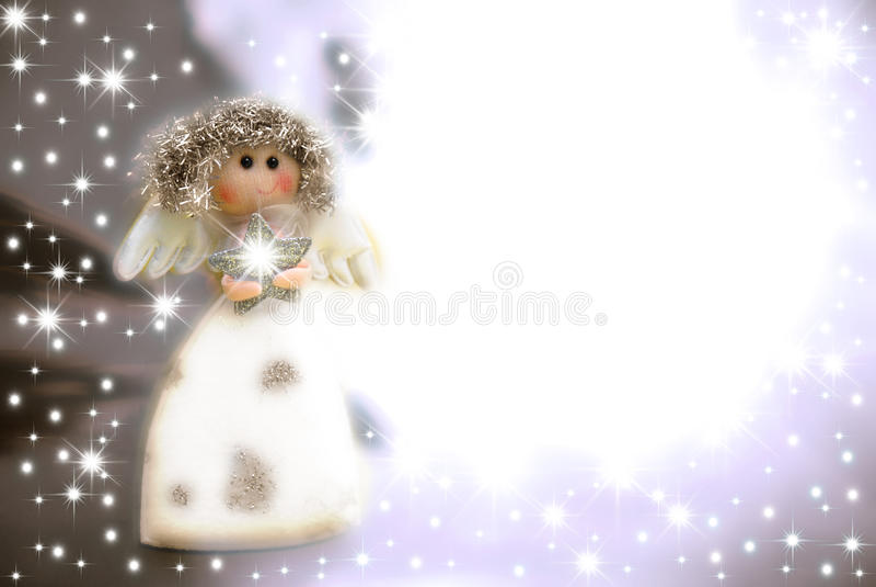 Carte de Noël d'ange illustration de vecteur