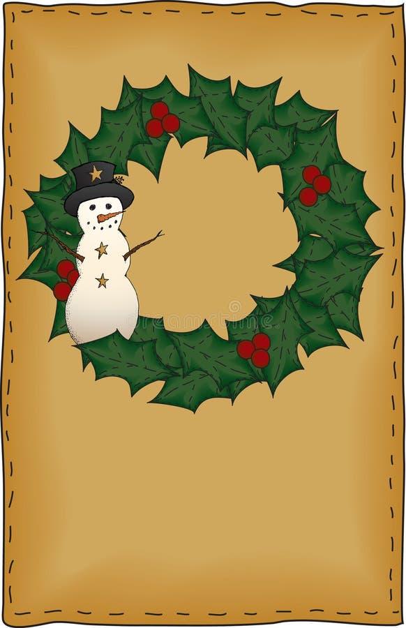 Carte de Noël d'art folklorique illustration de vecteur