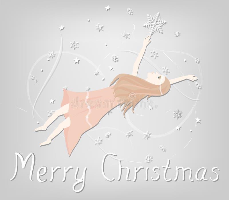 Carte de Noël d'illustration image libre de droits