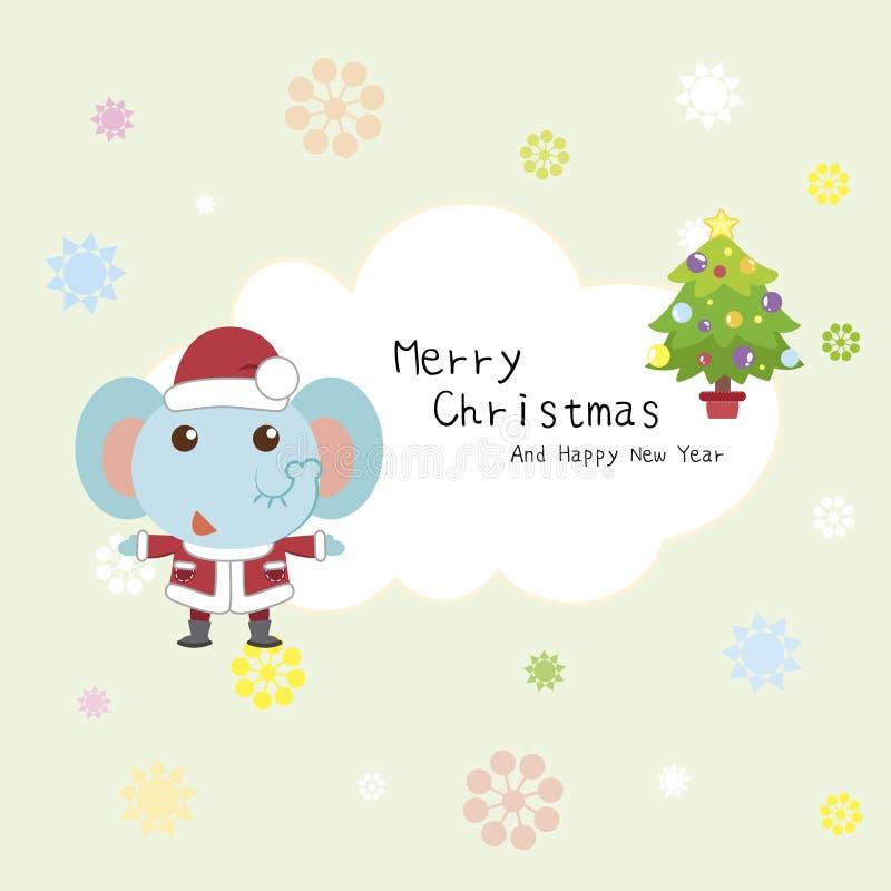 Carte de Noël de dessin animé illustration libre de droits