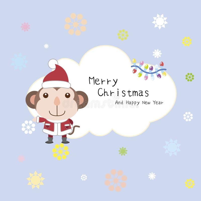 Carte de Noël de dessin animé illustration de vecteur