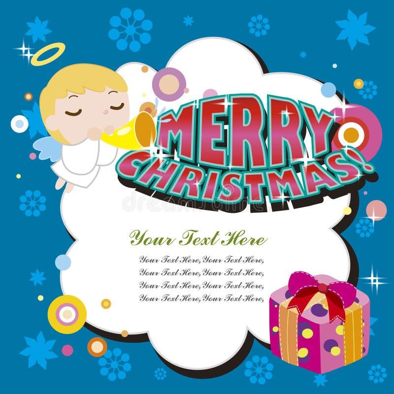 Carte de Noël de dessin animé illustration stock
