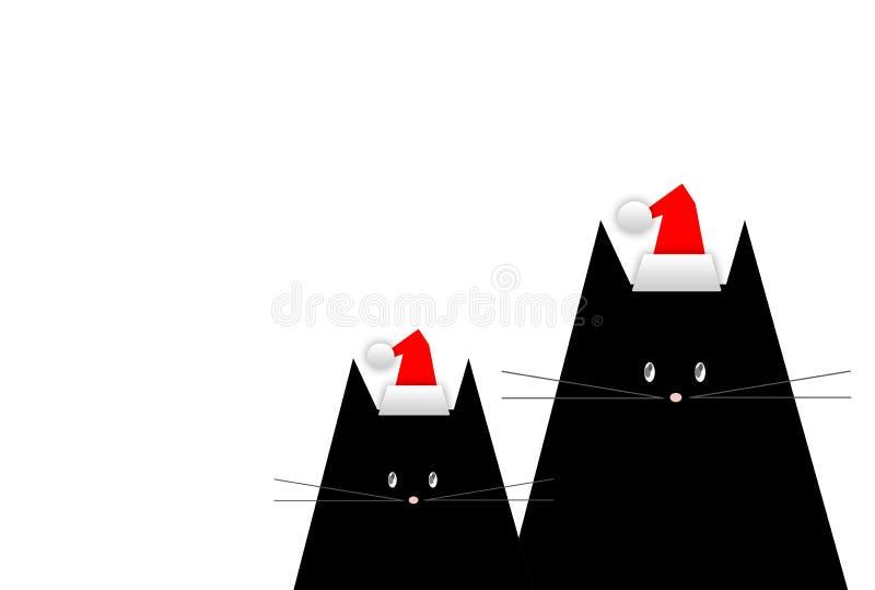 Carte de Noël de salutation illustration stock
