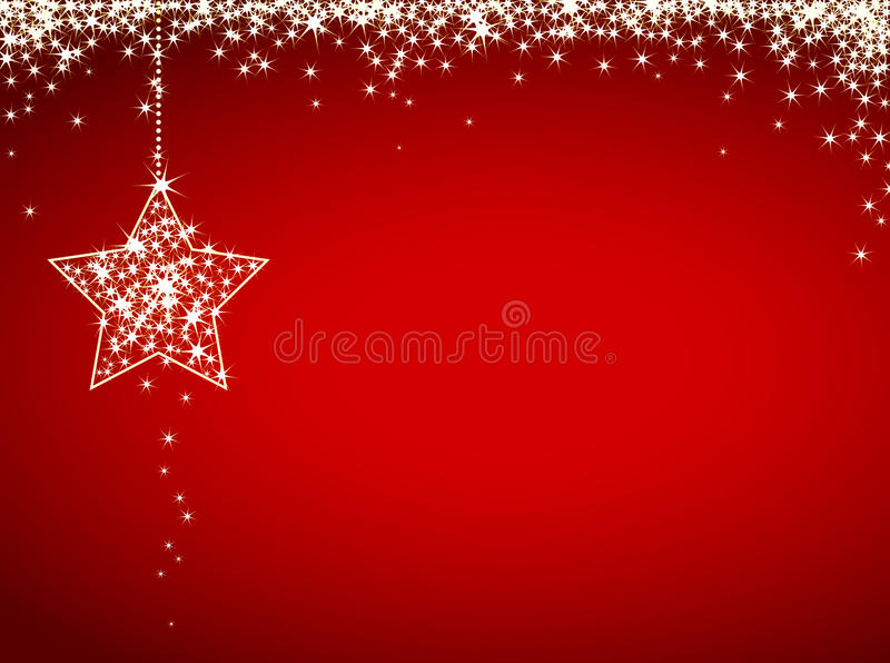 Carte de Noël de scintillement image libre de droits