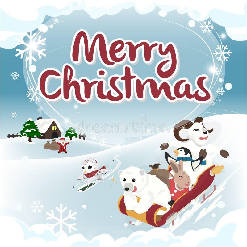 Carte de Noël de version de place de salutation d'hiver photos libres de droits