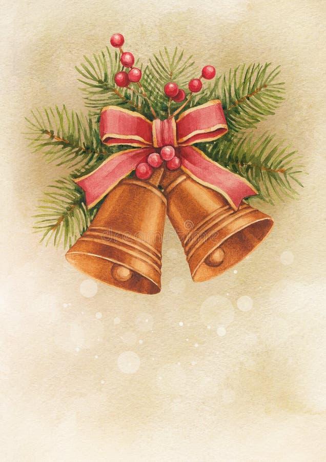 Carte de Noël de vintage illustration stock