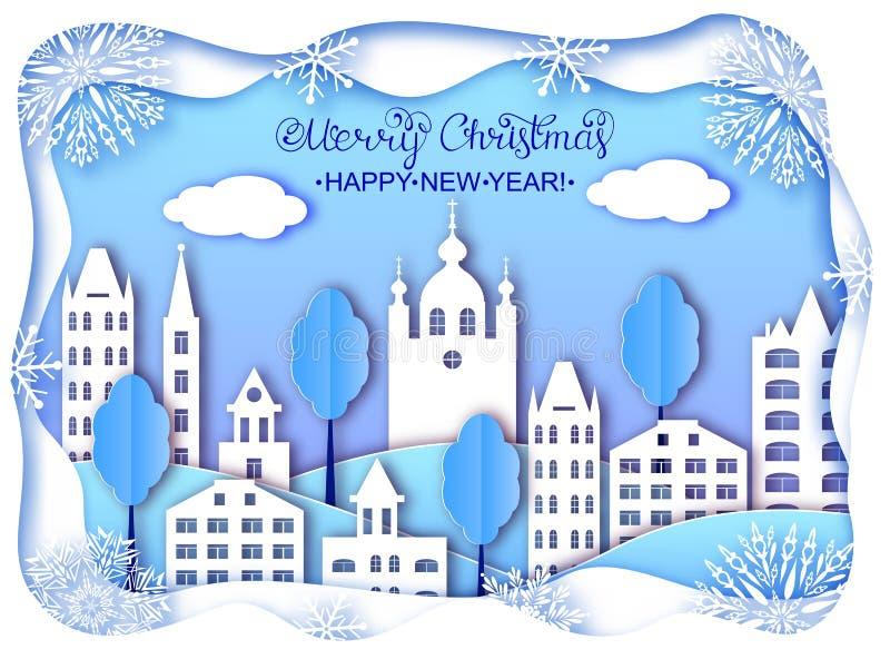 Carte de Noël et de bonne année illustration de vecteur