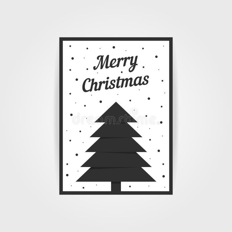 Carte de Noël gothique avec l'arbre noir de Noël illustration libre de droits