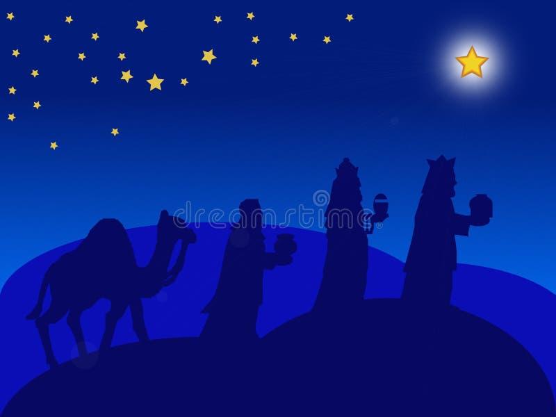 Carte de Noël - les Magi illustration de vecteur