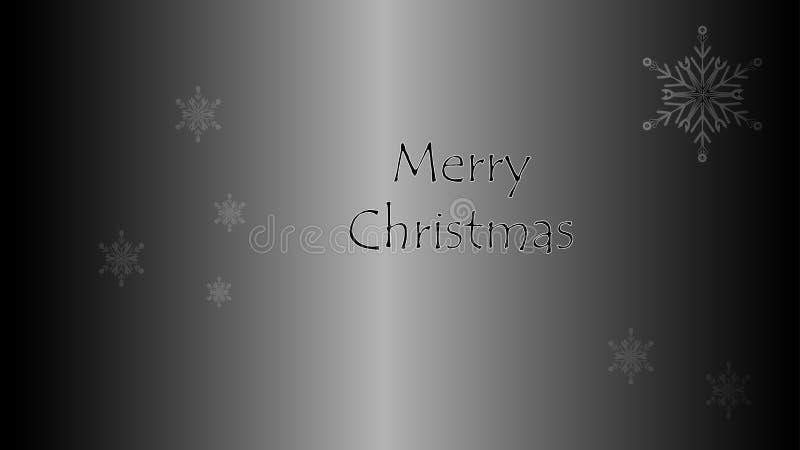Carte de Noël de luxe avec le Joyeux Noël illustration libre de droits