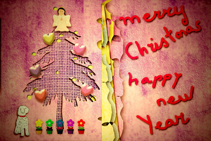 Carte de Noël mignonne avec le message illustration stock