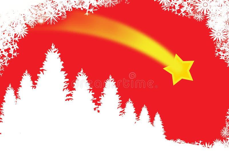 Carte de Noël rouge illustration de vecteur