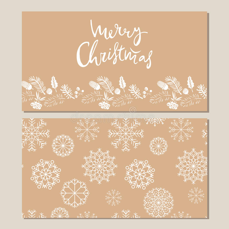 Carte de Noël tirée par la main illustration de vecteur