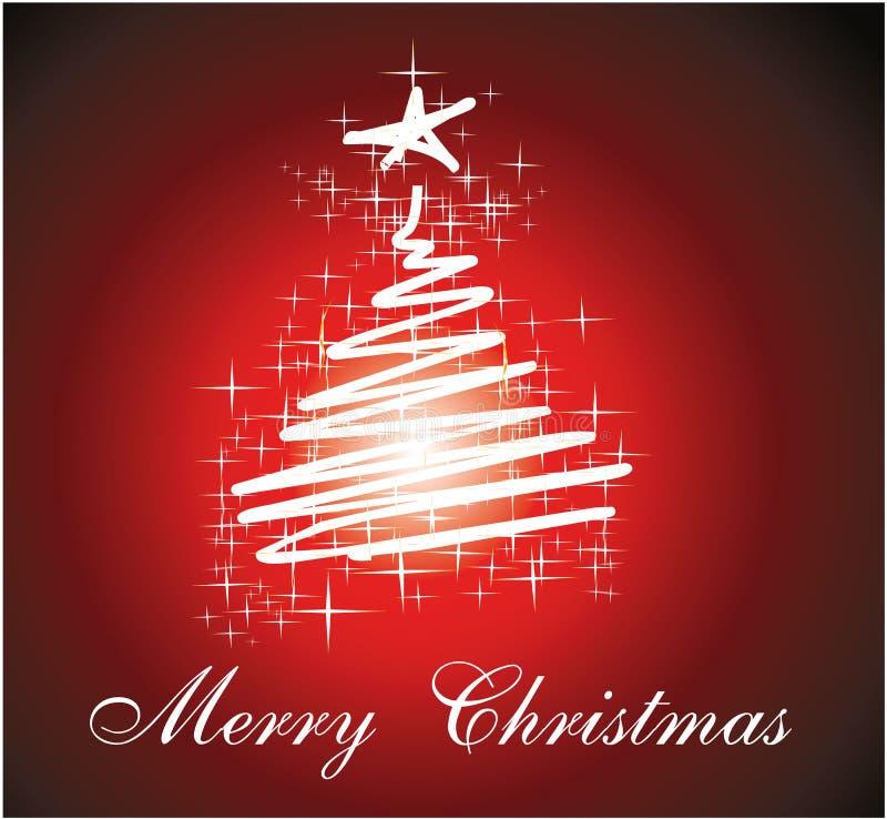 Carte de Noël trois pour le fond de salutations illustration de vecteur