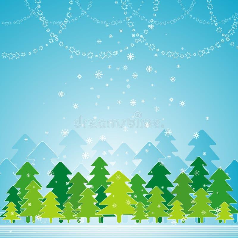 Carte de Noël, vecteur illustration de vecteur