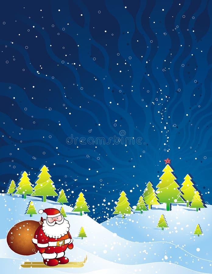 Carte de Noël, vecteur illustration libre de droits