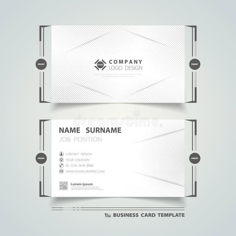 Carte de nom commercial abstraite conception géométrique de modèle de demi-teintes de l'entreprise vecteur d'illustration eps10 illustration stock
