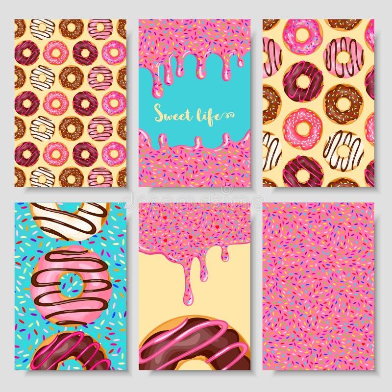 Carte de nourriture de beignet illustration stock
