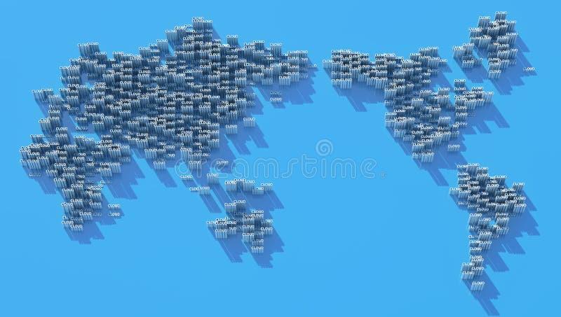 Carte de nuage illustration stock