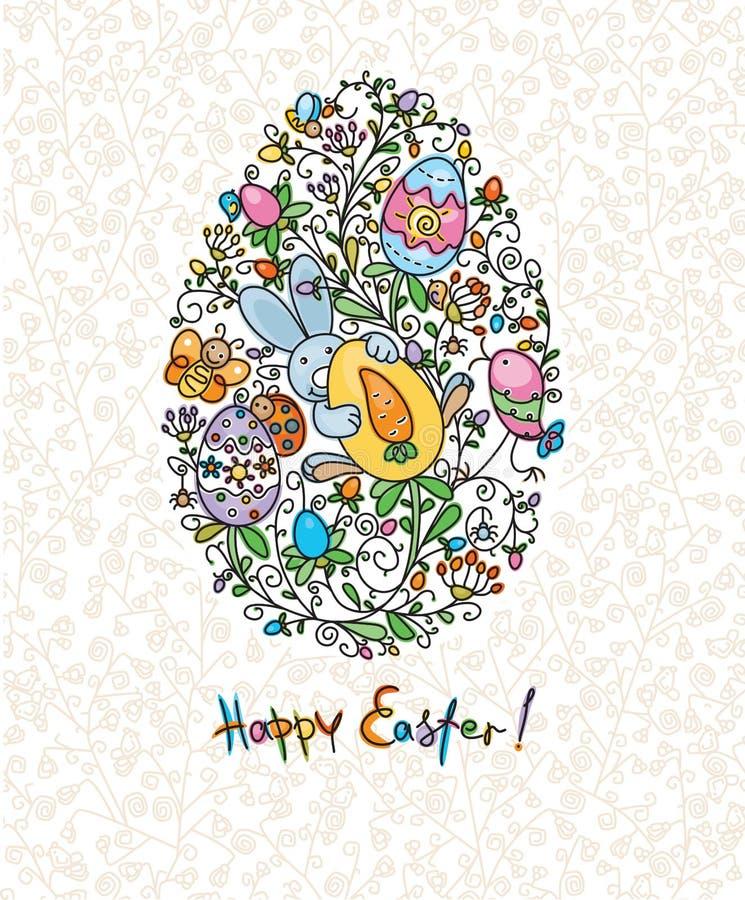Carte de Pâques. illustration de vecteur