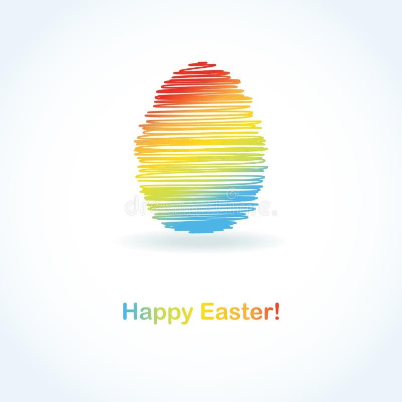 Carte de Pâques abstraite avec l'oeuf mignon illustration stock