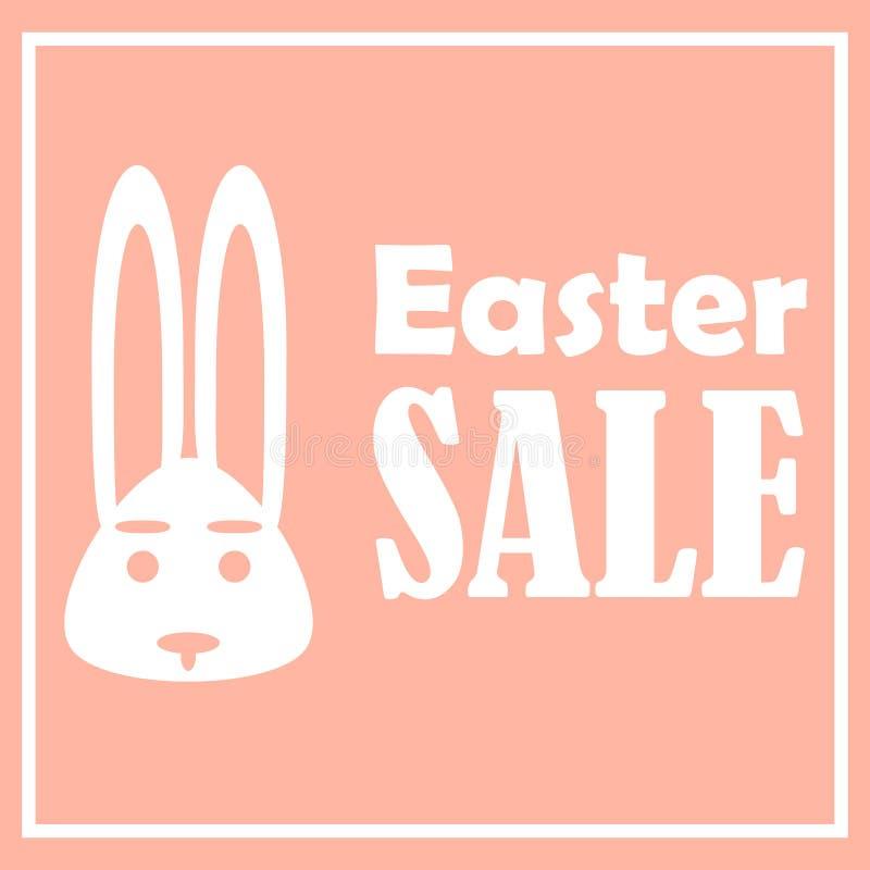 Carte de Pâques avec des ventes un jour de fête Avec un cadre rectangulaire mince simple illustration de vecteur