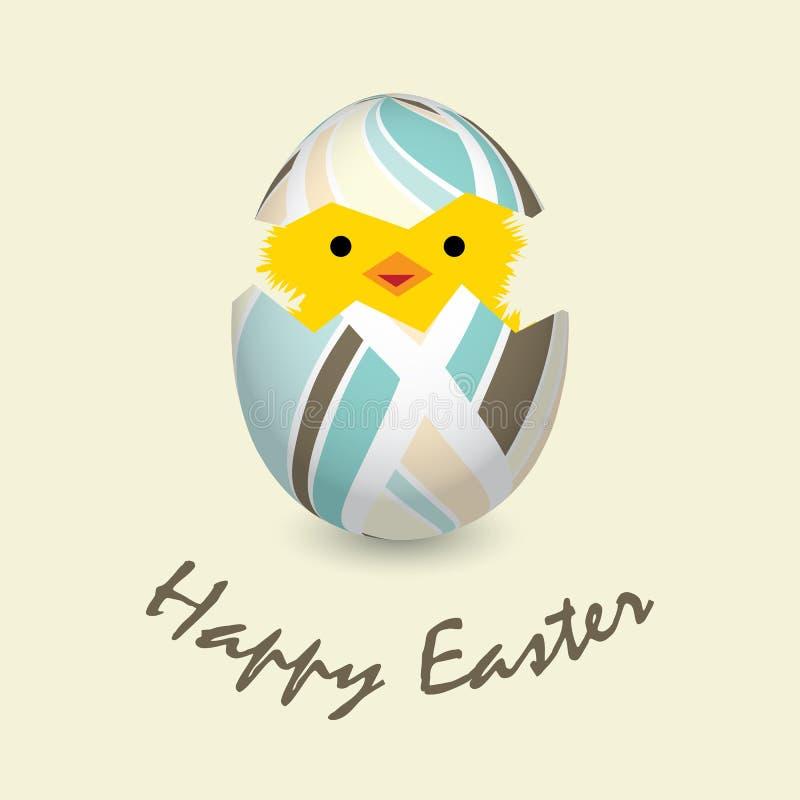 Carte de Pâques avec une nana de hachure illustration de vecteur