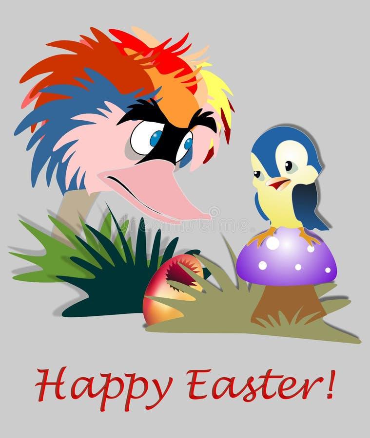Carte de Pâques drôle illustration stock