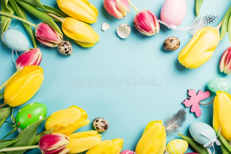 Carte de Pâques heureuse image libre de droits