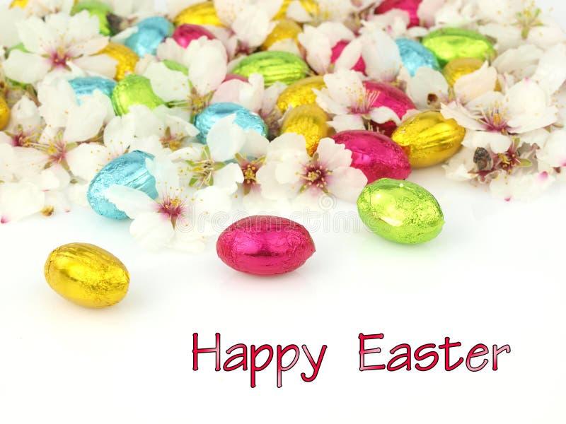 Carte de Pâques heureuse photographie stock libre de droits