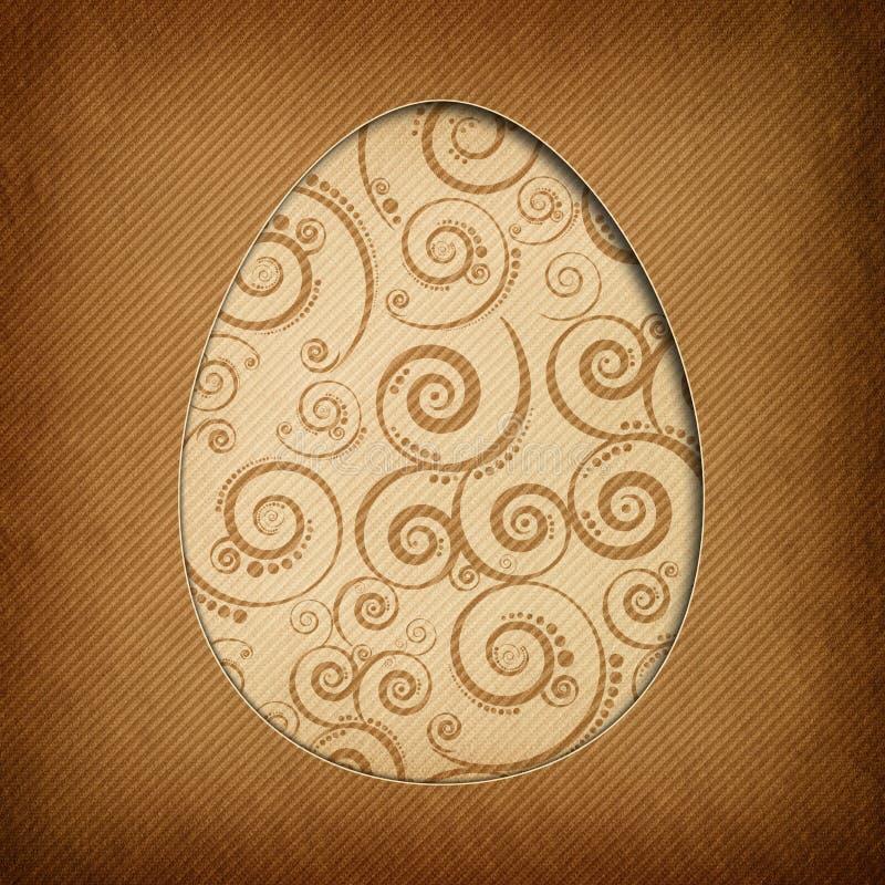 Carte de Pâques heureuse - conception moderne illustration de vecteur